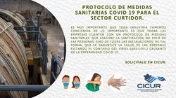 """""""Protocolo de Medidas Sanitarias COVID 19 PARA EL SECTOR CURTIDOR"""""""