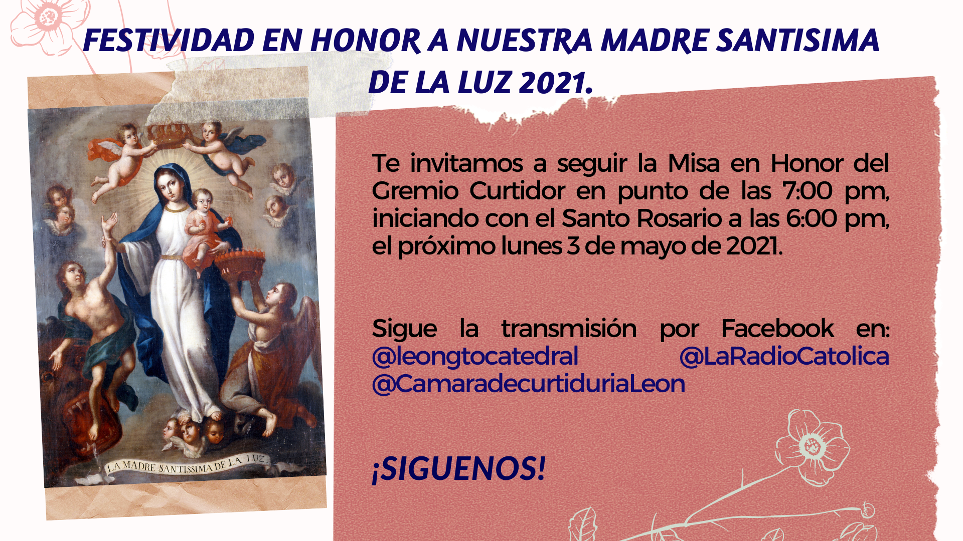 Festividad Peregrinación Virgen de la Luz 2021.