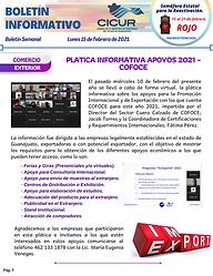 Boletin Informativo - 15 de febrero de 2