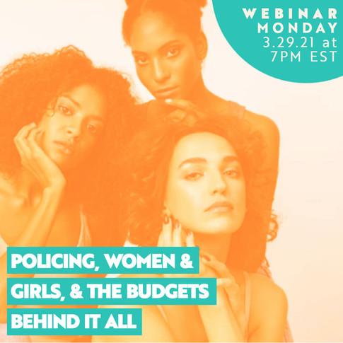 Policing Women Webinar woman