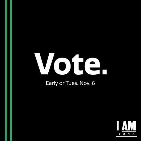 I AM 2018 VOTE post