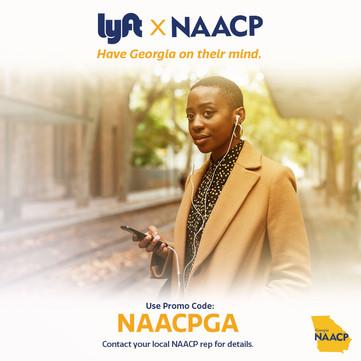 NAACP Lyft GA RunOff Graphic