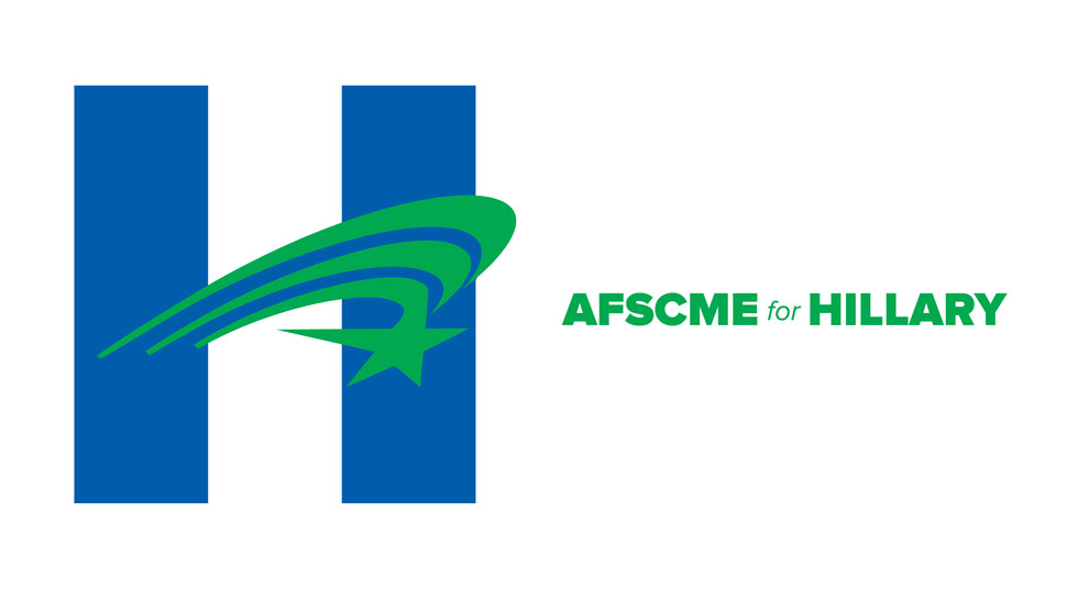 AFSCME for Hillary Swoosh