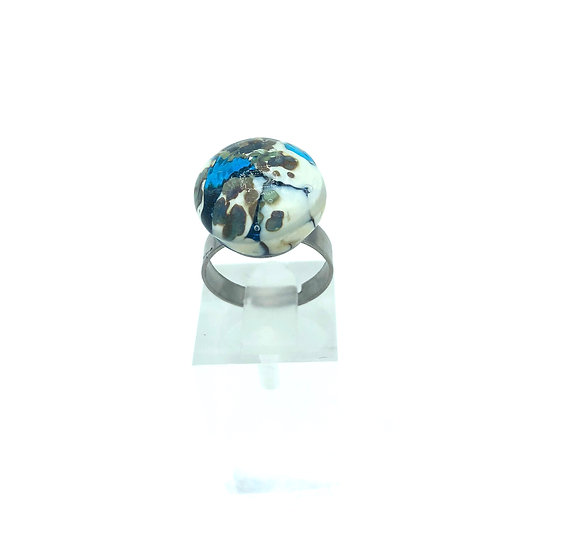"Bague ""blue world"" / Verre filé"