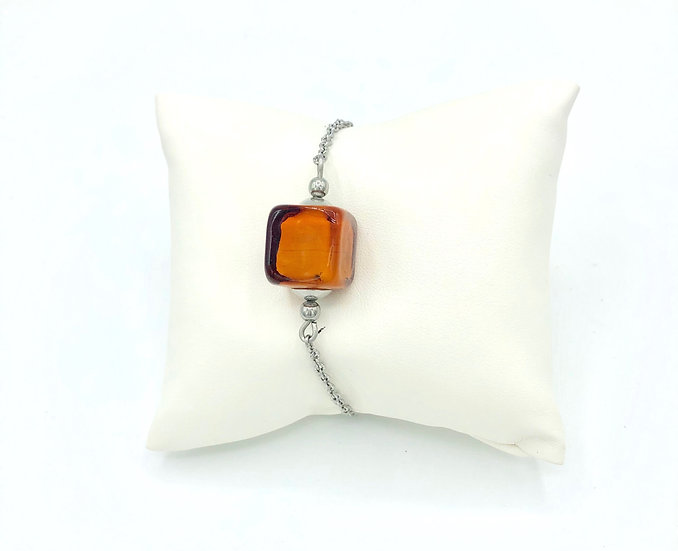 "Bracelet ""Caramel"" /Verre filé"