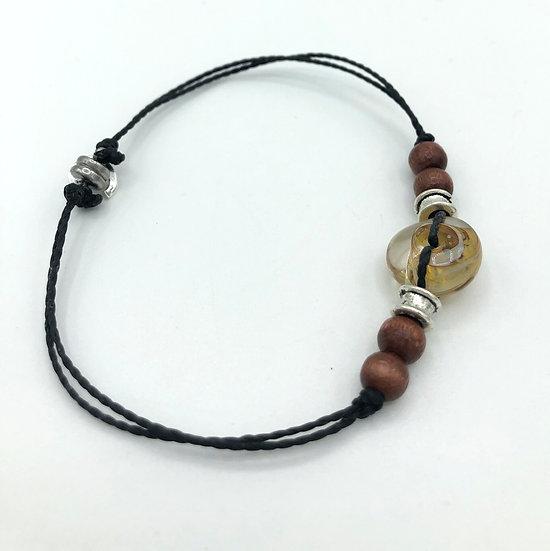 """Bracelet Homme """"Vortex"""" / Verre filé"""
