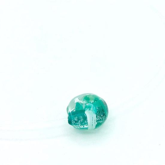 Collier perle méduse / verre filé