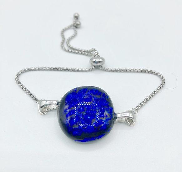 """Bracelet """"Grand Bleu"""" / Verre fusion"""