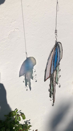 Fille de mer / Attrape Soleil / vitrail