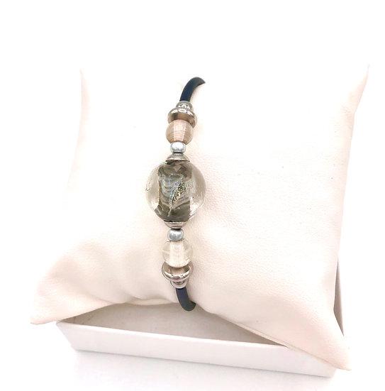 Bracelet mémoire «Reflets d'Ø» / Verre filé