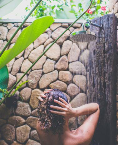 Ganapati Master Ensuite Open air Shower