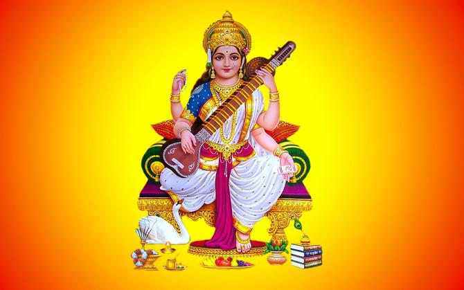 Hindu Goddess Saraswati the Goddess of Wisdom