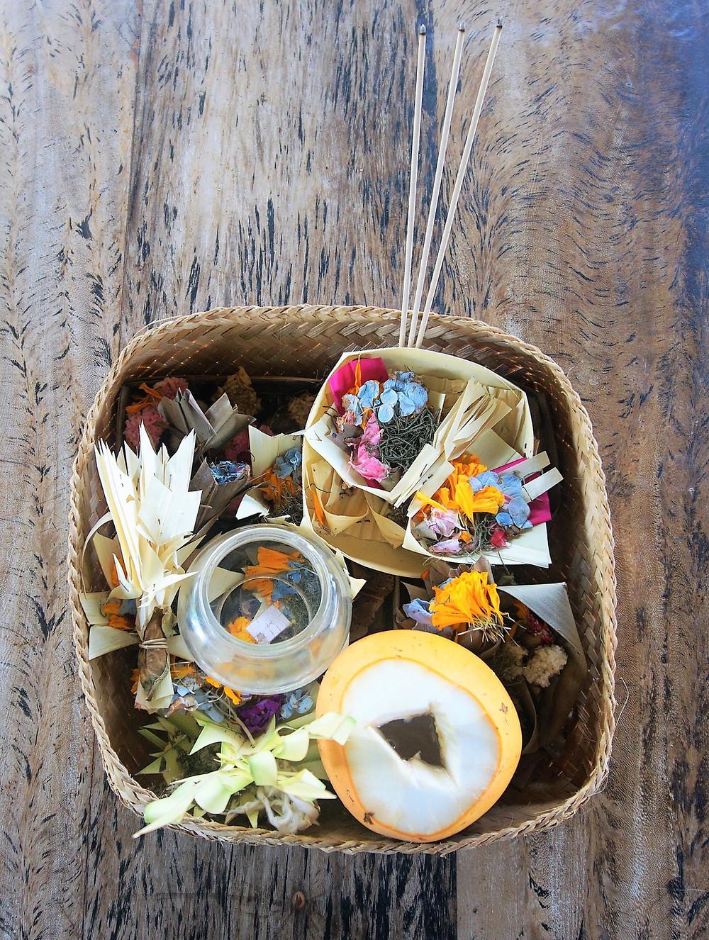 purnama ( full moon ) offering