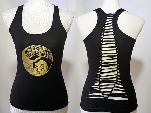 Yin Yang Tree Yoga Top, Full Criss-Cross Back