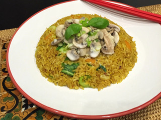 Creamy Ginger Mushroom with Fried Rice
