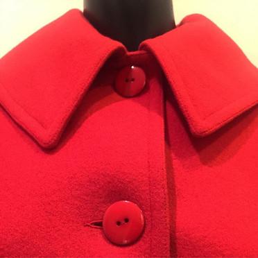 """""""Red wool jacket, Saint Laurent Rive Gau"""