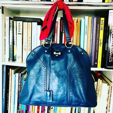 Bolsa de couro Yves Saint Laurent lindís