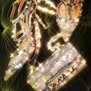 All that glitter!!!! Sapato e bolsa ROCK