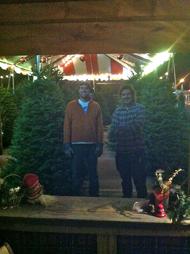 Our Dallas Christmas tree lot guys!