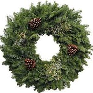 "Handmade Mixed Wreath - 24"""