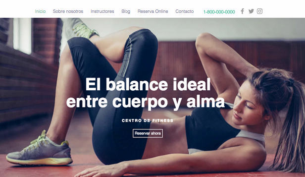 Ver todas las plantillas website templates – Estudio de gimnasia