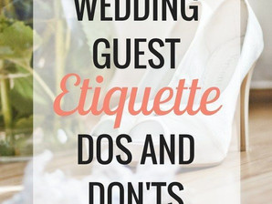 Weddings Etiquette-Dos and Don't