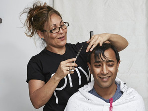 Tania Damasceno at Guardian news paper # Hair Styling# London City
