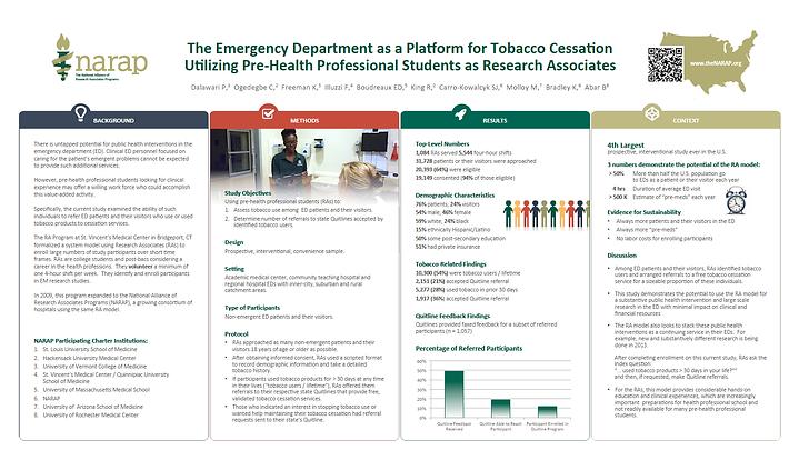 The NARAP Tobacco Cessation Study Poster