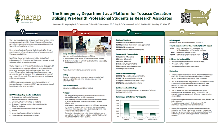 The NARAP Tobacco Cessation Study Poster