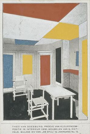 Van_Doesburg_and_Rietveld_interior_1919.