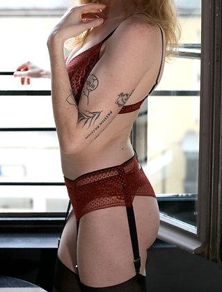 lingerie française rouge