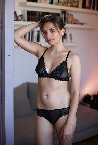 lingerie en dentelle noire Made in France