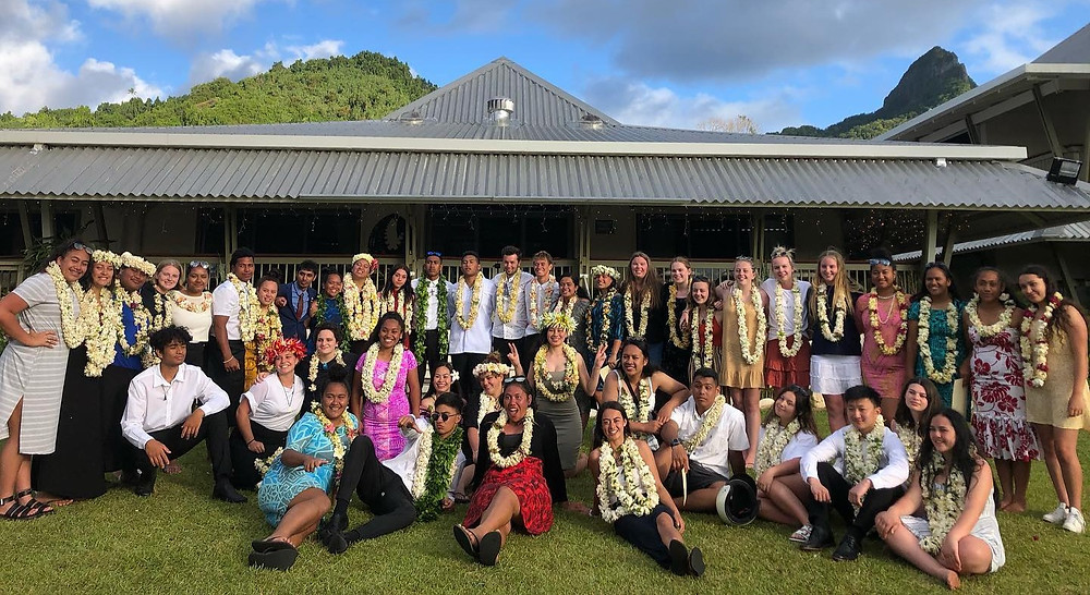 Course photo at the NZ High Commissioners Residence in Rarotonga