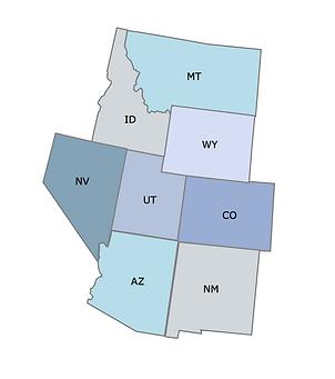 Rocky Mountain Region Map