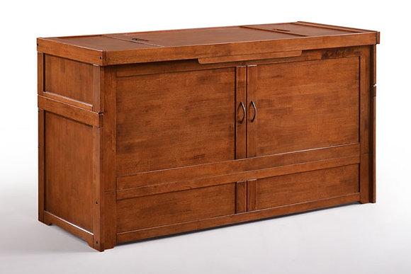 Cube Queen Cabinet Bed in Cherry