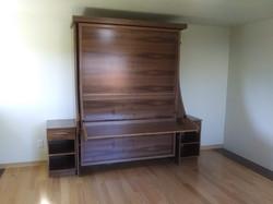 Majestic queen desk bed - Walnut