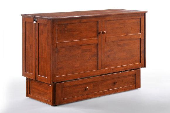 Clover Queen Cabinet Bed - Cherry