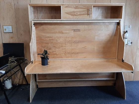Smile Double Deskbed in Birch