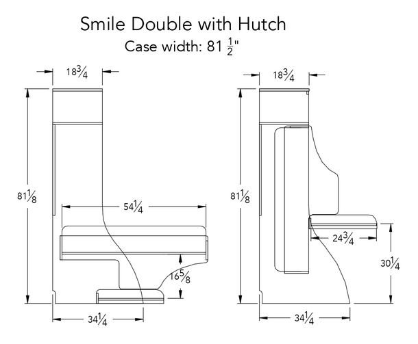 Smile Double with Hutch
