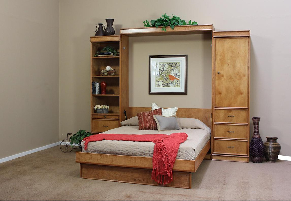 Portola vertical wall bed. space saving bed for a guest bed