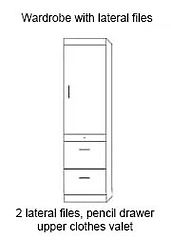 Murphy bed lateral file pier cabinet