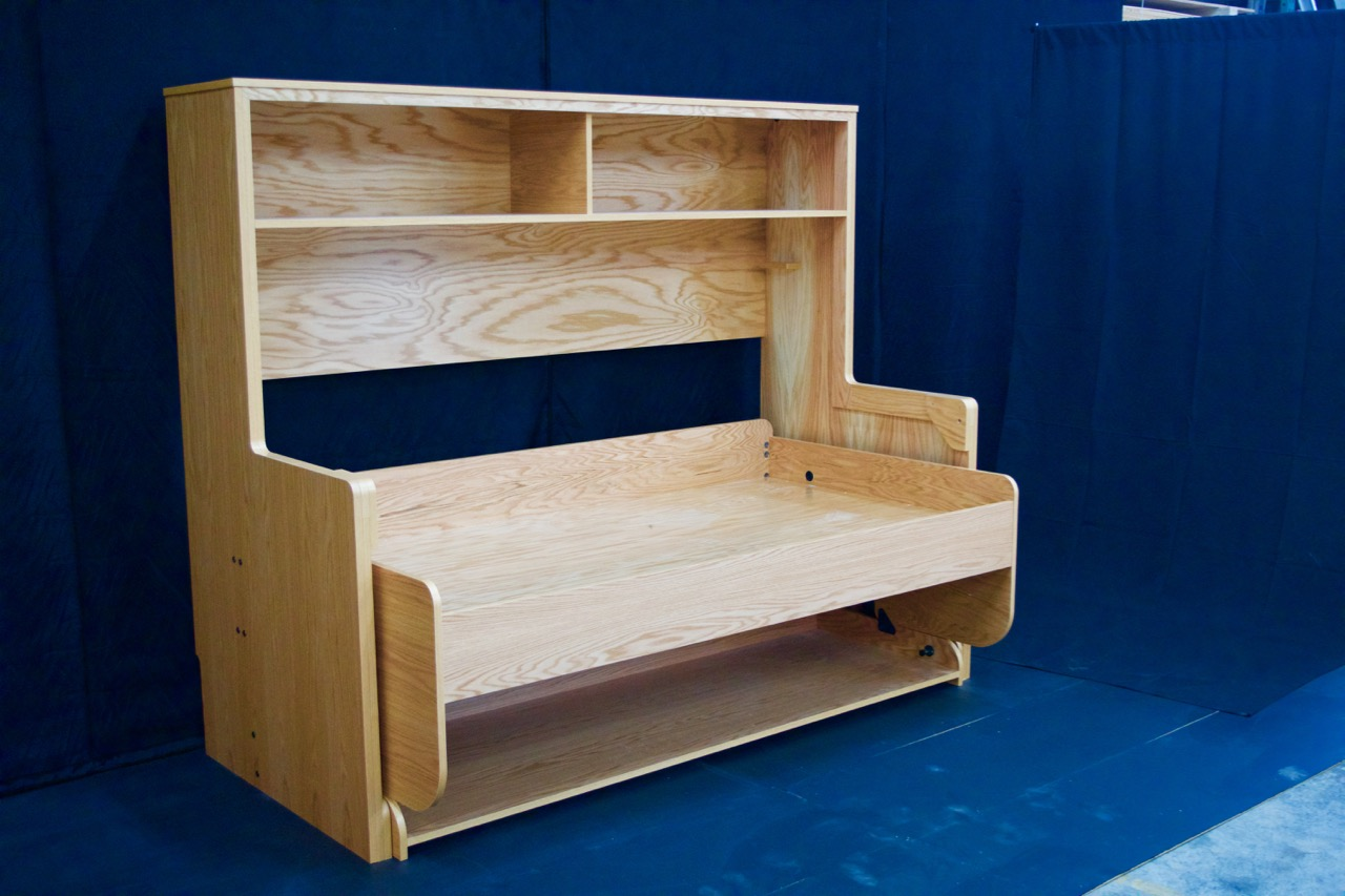 Splendid Twin Bed in Oak Plywood