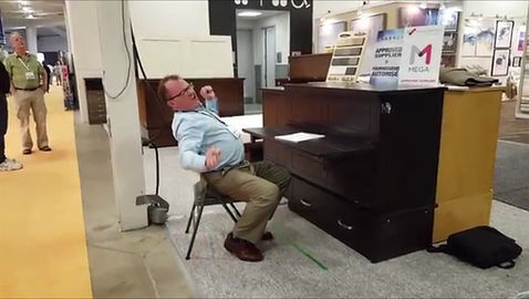 Demonstration of the Study Buddy Cabinet Bed with Desk
