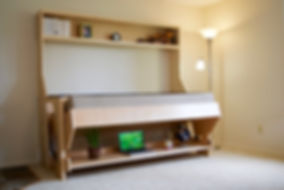 Murphy bed - murphy bed with desk - hidden bed - small space furniture