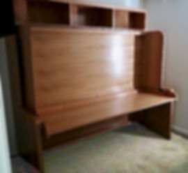 murphy bed with desk - hiddenbed - desk bed - small space furniture