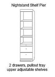 Murphy bed nightstand cabinet