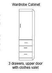Murphy bed wardrobe cabinet