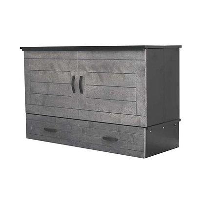 Metro Deluxe Queen Cabinet Bed - Grey
