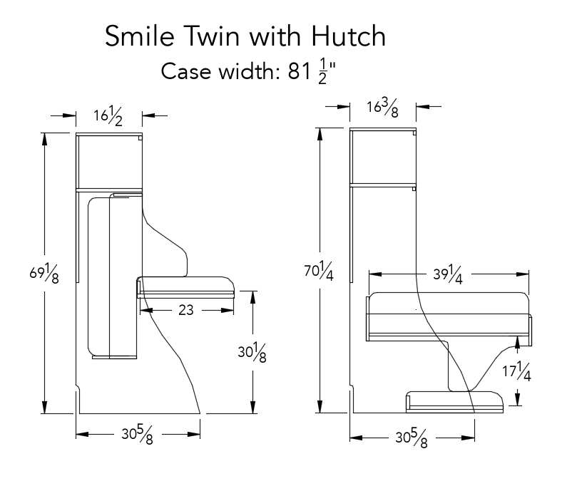 Smile Twin with hutch
