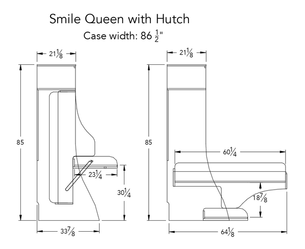 Smile Queen with Hutch